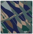 rug #725257 | square blue graphic rug