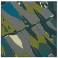 rug #725353 | square green abstract rug