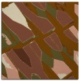 rug #725369 | square brown graphic rug