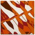 rug #725493 | square red-orange popular rug
