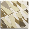 rug #725517 | square yellow graphic rug