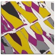 rug #725525 | square yellow abstract rug
