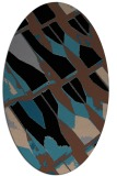rug #725593 | oval brown graphic rug