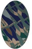 rug #725609 | oval blue popular rug