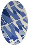 rug #725617 | oval blue graphic rug