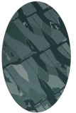 rug #725649   oval blue-green abstract rug