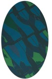 rug #725657 | oval blue graphic rug
