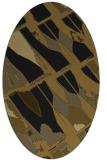 rug #725693 | oval black rug