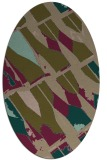 rug #725697 | oval brown graphic rug