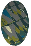 rug #725705 | oval blue-green abstract rug