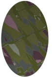 rug #725713 | oval green abstract rug