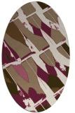 rug #725729 | oval beige graphic rug