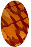 rug #725765 | oval red-orange graphic rug