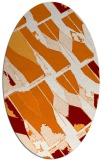 rug #725769 | oval orange graphic rug