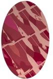 rug #725793 | oval pink graphic rug