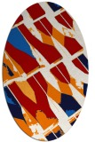 rug #725817 | oval red abstract rug