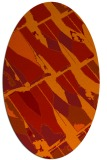 rug #725821 | oval red graphic rug