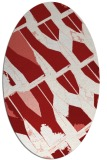 rug #725825 | oval red graphic rug
