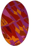 rug #725829 | oval red abstract rug