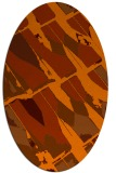 rug #725833 | oval red-orange graphic rug