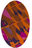 rug #725841 | oval red-orange graphic rug