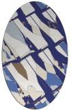 rug #725857   oval white abstract rug