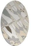 rug #725861 | oval white abstract rug