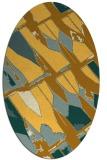 rug #725881 | oval yellow rug