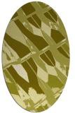 rug #725897   oval light-green abstract rug
