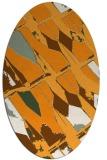 rug #725921 | oval light-orange abstract rug