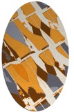 rug #725925 | oval white graphic rug