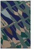 rug #725961 |  blue graphic rug