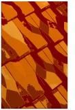 rug #726117 |  orange graphic rug