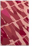 rug #726145 |  pink abstract rug