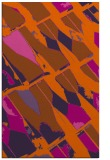 rug #726193 |  red-orange abstract rug