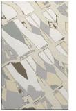 rug #726213 |  white abstract rug