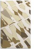 rug #726221 |  yellow abstract rug