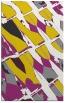 rug #726229 |  yellow graphic rug