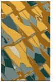 rug #726233 |  yellow abstract rug