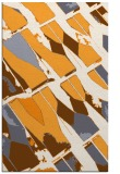 rug #726277 |  light-orange abstract rug