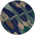 rug #726313 | round blue abstract rug