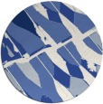 rug #726321 | round blue abstract rug