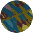 rug #726341 | round green abstract rug