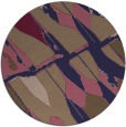 rug #726390 | round abstract rug