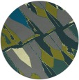 rug #726409 | round blue-green abstract rug
