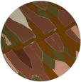 rug #726425 | round brown abstract rug