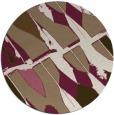 rug #726433 | round mid-brown rug