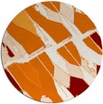 rug #726473 | round orange graphic rug