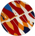 rug #726521 | round red graphic rug