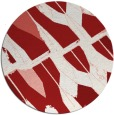rug #726529 | round red abstract rug